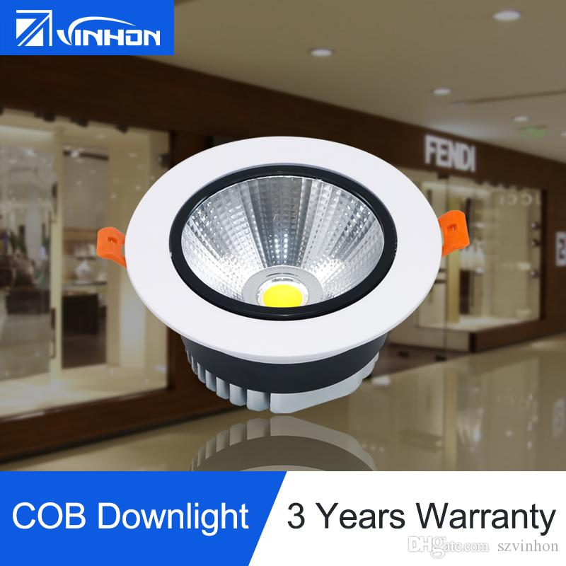 c29fd3b9f31 Dimmable Downlight 10W 12W 15W Recessed COB Downlight Super Bright LED  Spotlight 2700K 4000K 6000K LED Lights LED Ceiling Light Shop Lighting  Fixture ...