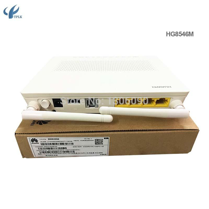 10pcs/lot Huawei GPON ONU/ONT HG8546M with 1GE 3FE 1POTS 2WiFi USB wifi  router