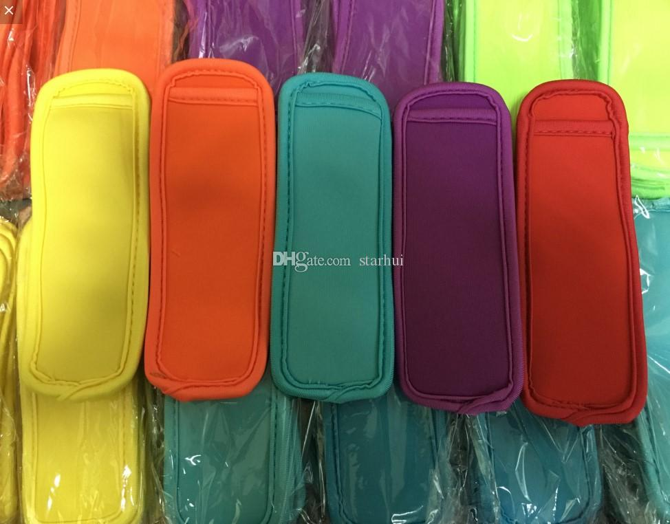 Wholesale Popsicle sleeve Popsicle Holders Pop Ice Sleeves Freezer Pop Holders Kids Summer Ice Bag Kitchen Tools 18*6cm WX9-275
