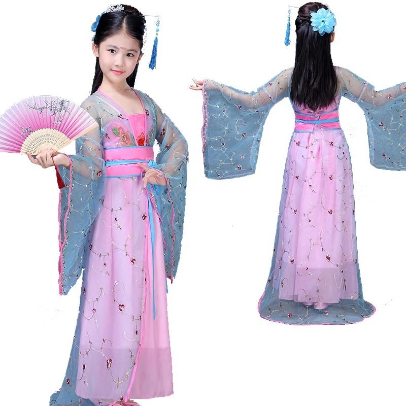 13415b441956d 2019 Traditional Chinese Folk Dance Ancient Clothing Fairy Dance Costumes  Hanfu Dress Tang Dynasty Costume Girls Children Kids Child From Honey111,  ...