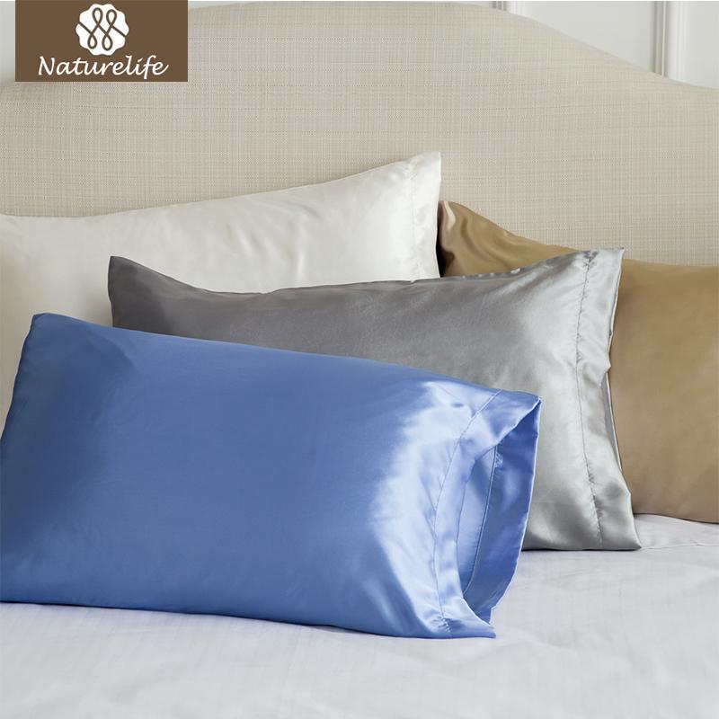 Silk Vs Satin Pillowcase Extraordinary Naturelife Silk Satin Pillowcase Home Multicolor Ice Silk Pillowcase