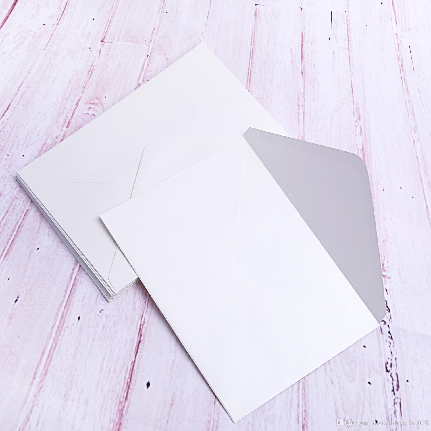 a7 ivory pearl paper envelopes with water based glue pefect for 5x7