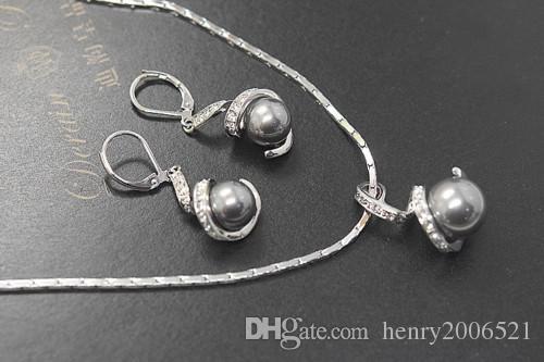 Anniversaire de fiançailles de mariage rempli de bijoux en or blanc / rose de 18 carats, bijoux en boucle