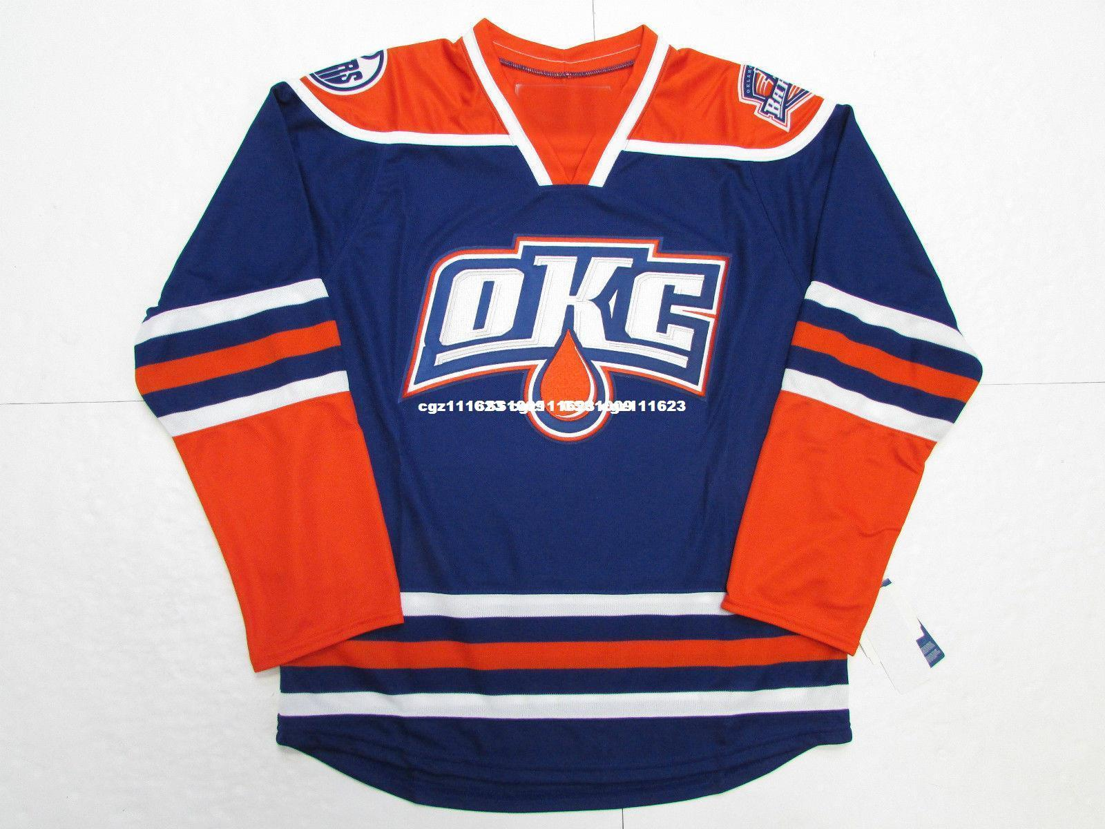Cheap Custom OKLAHOMA CITY BARONS THIRD BLUE AHL PREMIER HOCKEY ... debd00e31