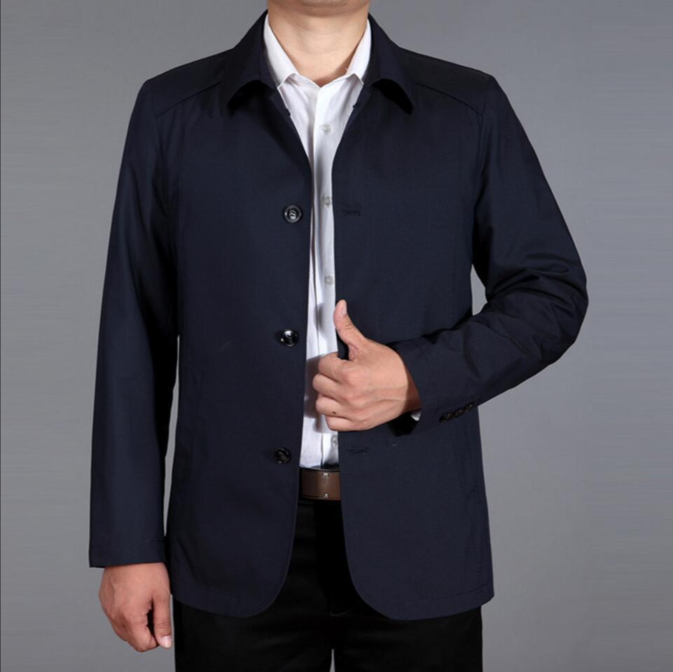 2ca5fb55268 M-4XL 2018 spring and summer Middle-aged men s Business Casual jacket  father lapel casual jacket thin coat plus size clothing. Time Limited Sale