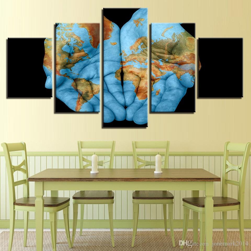 2018 Canvas Pictures Home Decor For Living Room Abstract Palm World ...