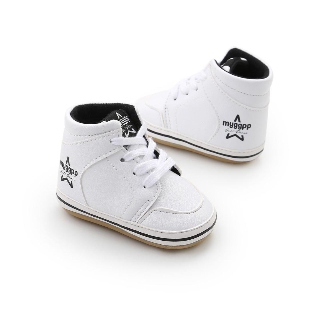 9baca5d839ea New Fashion Trend Tollder Kid Baby Boy Girl Crib Shoes Soft Sole Leather  Sneakers Prewalker Stylish Wild Novel Stylish Cute Kids Running Shoes Kids  ...