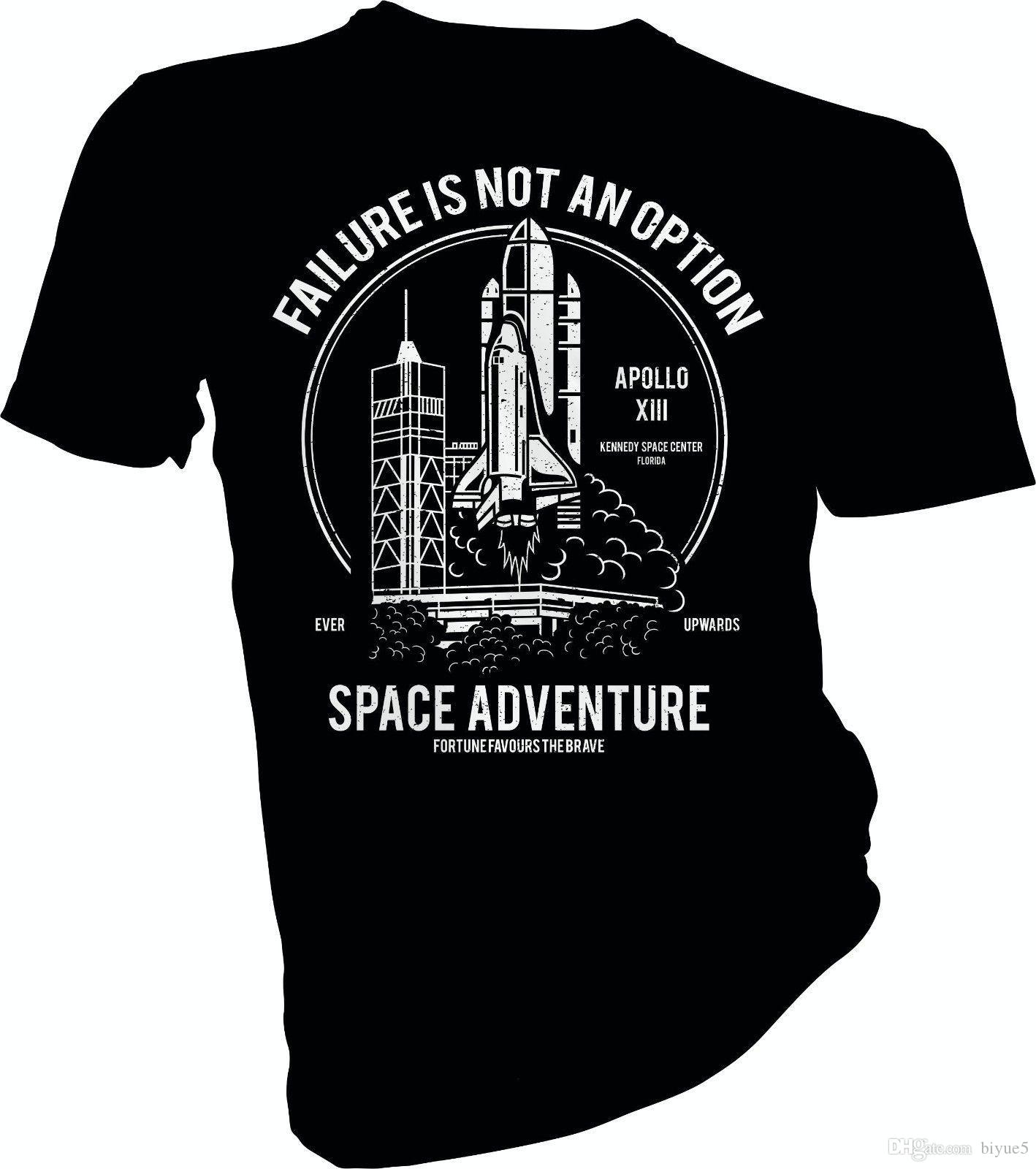 47037580 Failure Is Not An Option, NASA, Space Shuttle, Rocket Adult & Kids T Shirt  New Design Cotton Male Tee Shirt Designing Novelty Shirts Original T Shirts  From ...