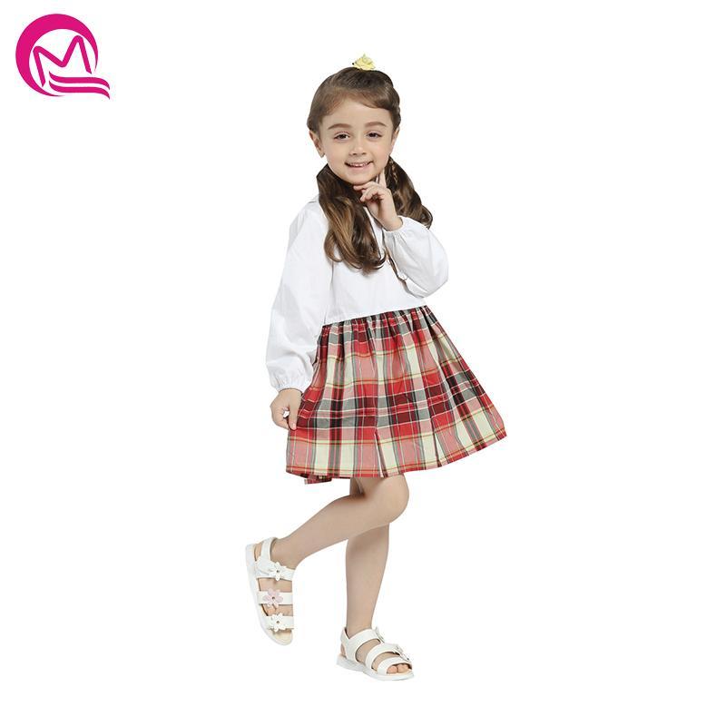 d8ba4d12c Compre Niñas Verano Primavera Dress 2018 Nueva Llegada Estilo Casual  Remiendo De Manga Larga Sueltos Vestidos Niños Ropa Niña Vestidos De Algodón  A  34.38 ...