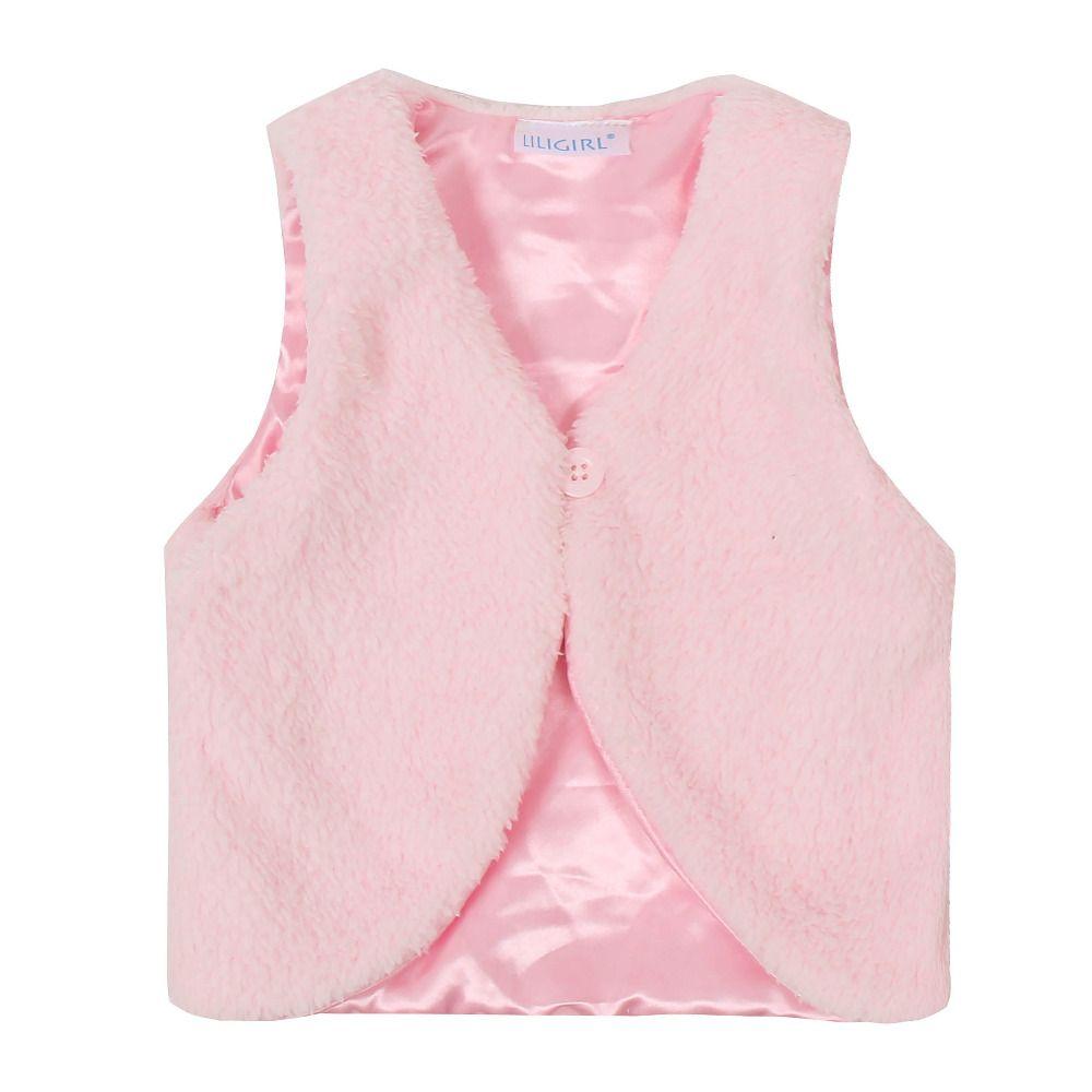 abfe35c94 Autumn Winter Baby Girls Vest Outwear Coat Infant Kids Girls V Neck ...