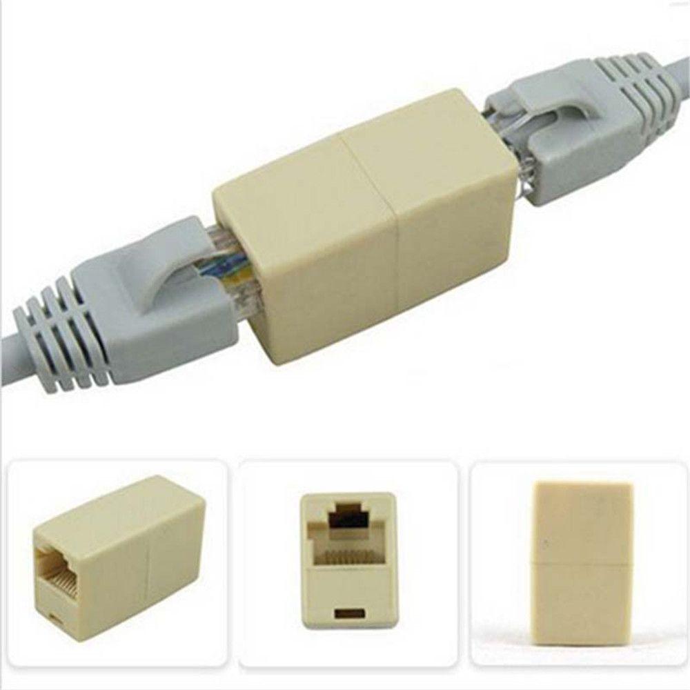 5Pcs/10Pcs Cat5 RJ45 Lan Network Ethernet Cable Extender Joiner Adapter  Coupler Connector F