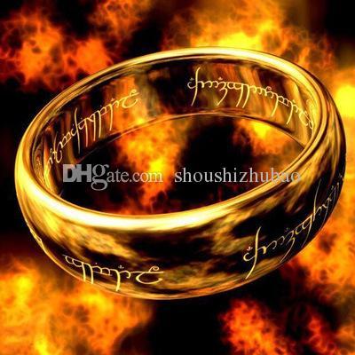 Bijuterias O Senhor dos Anéis para homens de aço inoxidável Anel de 3 cores