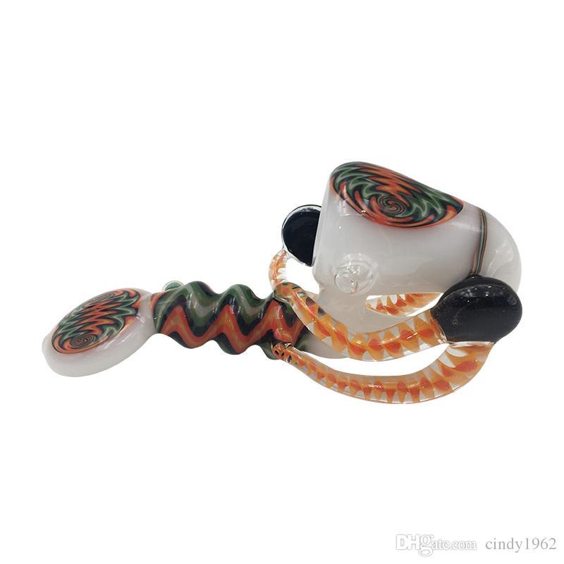 랍스터 버블러 유리 파이프 핸드 파이프 6.7 인치 독특한 담배 튜브 흡연 마른 허브