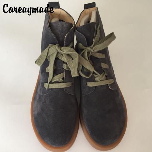 Careaymade-spring,Genuine leather shoes,Pure handmade ankle boot,The retro art mori girl shoes,Fashion retro Japane boots,