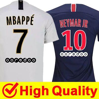 618660124 2019 2018 2019 Paris Saint Germain PSG Soccer Jersey 19 18 7 Mbappe 6  Verratti 9 Cavani 32 DANI ALVES 10 11 DI MARIA 2 T SILVA Football Shirts  From ...