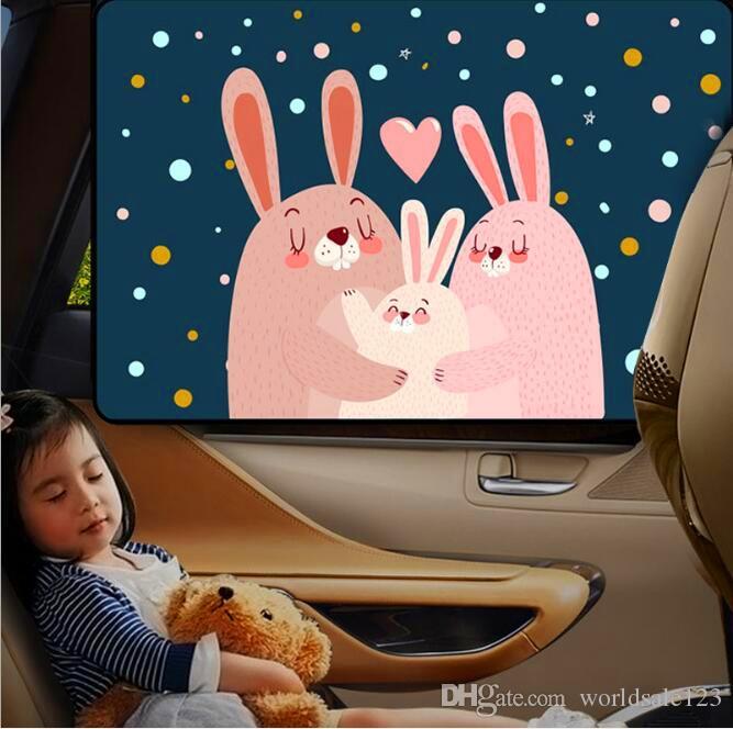 7d57914b7b9 Cartoon Magnetic Car Sun Protector Side Window Sunshade Curtain ...