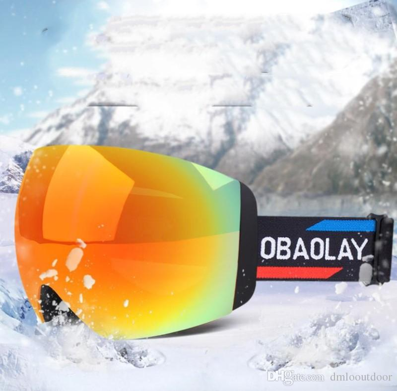 c945c613ac5d 2019 Professional Women Ski Glasses Men Ski Goggles UV400 Anti Fog Glasses  Motorcycle Glasses Double Layer Skiing Snowboard Goggles With Box From ...