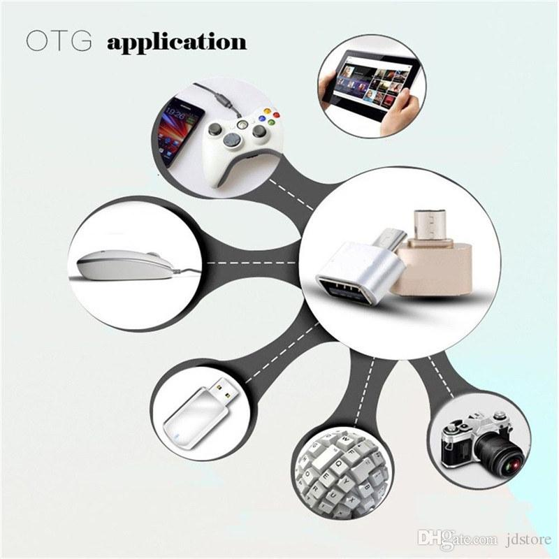 Mini Micro USB OTG Adapter Converter For Samsung Sony LG HTC XiaoMi Lenovo Huawei Meizu Tablet Mouse Keyboard Flash drives Disk