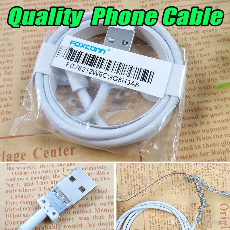 Quality A+++ Phone Cable Charger Cable 1M/3FT Charging Line for i7/8/X with Retail Package