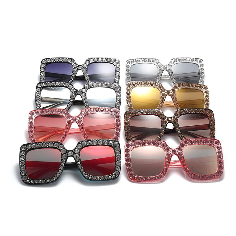 a1f41d23ce3dd Square Diamond Sunglasses Oversized Crystal Mirror Sunglasses Ocean Sunglasses  Girls Square Glasses TO600 Wholesale Glasses Diamond Sunglasses Girl Square  ...