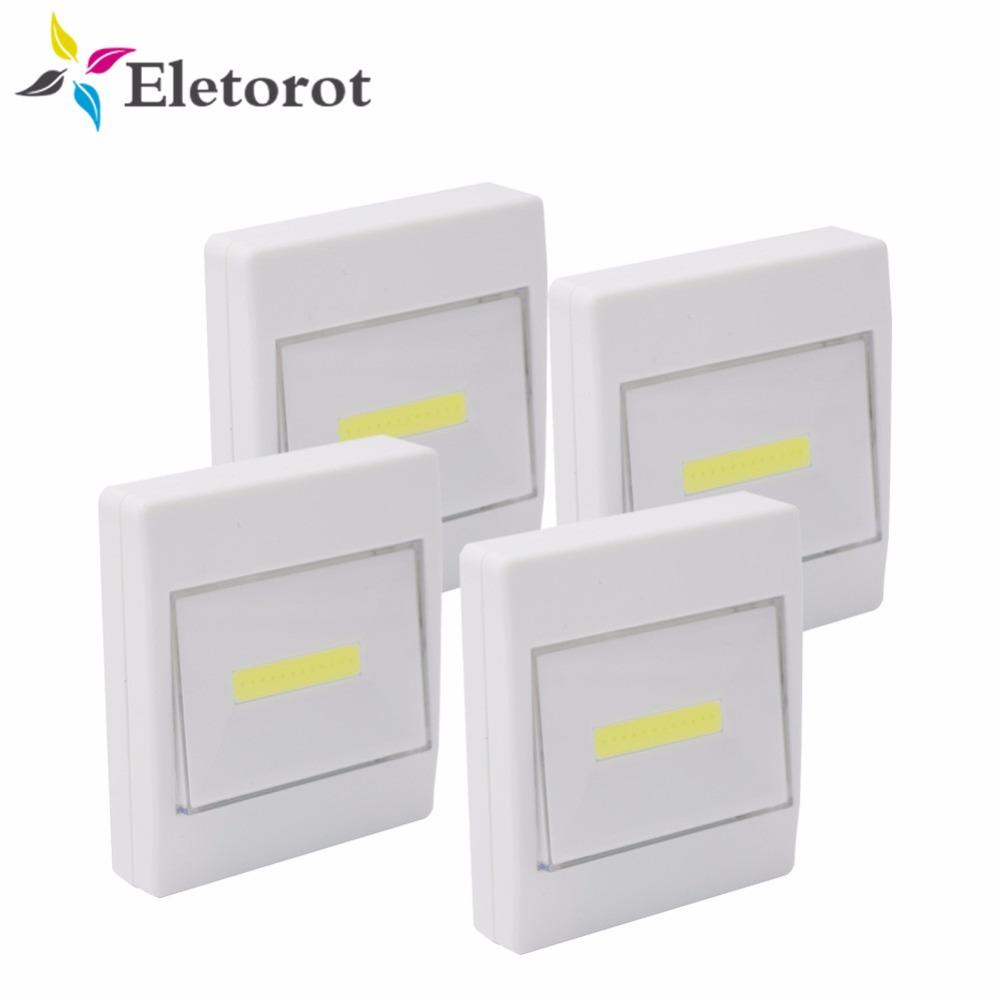 2018 4pack Magnetic Led Closet Night Light Ultra Bright Mini Cob ...