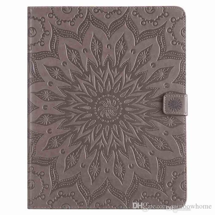 Mandala Flower Sleep Wake Up Flip Portafoglio Stand PU Custodia in pelle PU iPad Mini 123 4 Nuovo iPad 9.7 2017 2018 234 Air 1/2 Samsung Tablet