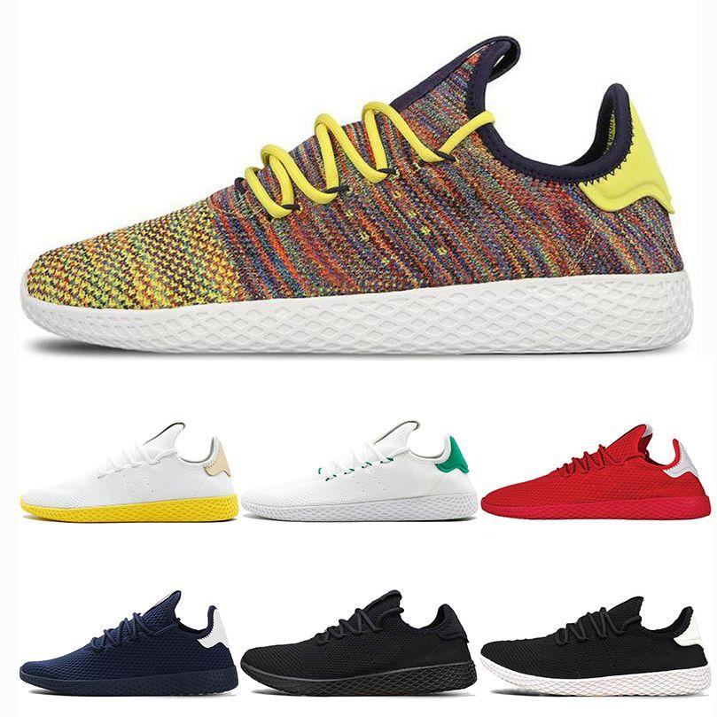 9469fb71c Moda Stan Smith Zapatos Casuales Pharrell Williams Tennis HU Primeknit Hombres  Mujeres Zapatillas De Deporte Zapatilla De Deporte Transpirable Zapatos ...