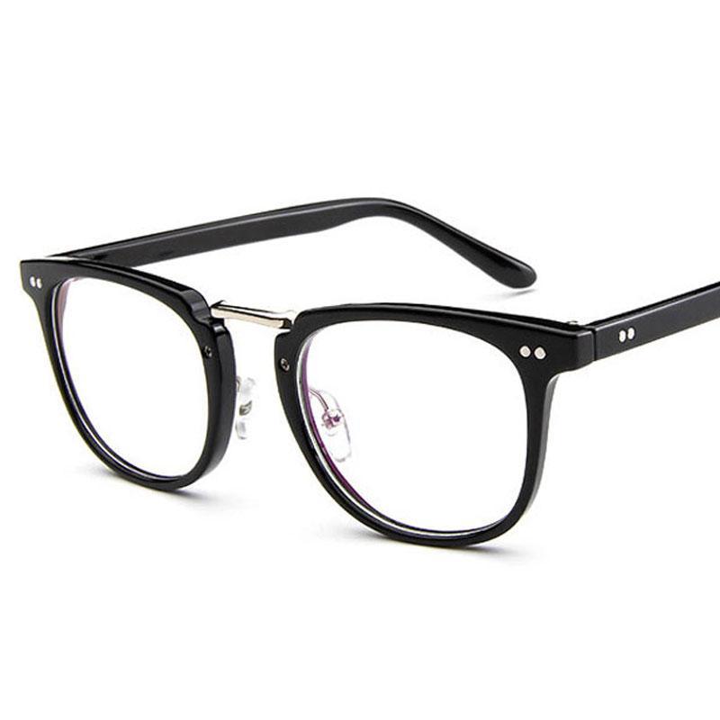 e8205c94e5cc Popluar Square Glasses Frame Men 2018 High Quality Prescription Eye Optical  Rivet Glasses Frame Retro Women Spectacle Eyewear Sunglasses For Women Cat  Eye ...