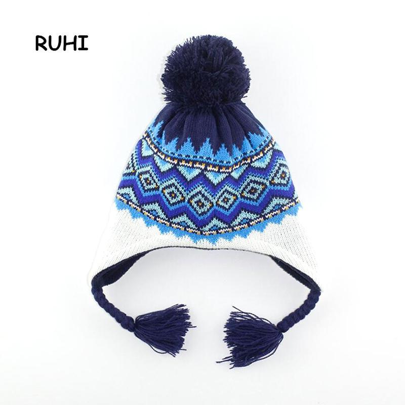 Christmas Gift Boy Girl Hat Ear Cotton Children Cap Baby Girls ... a36bcd40f000