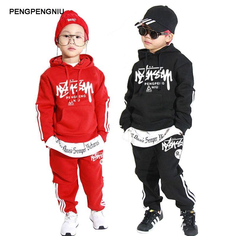 Compre PENGPENGNIU Disfraz De Hip Hop Para Niños Y Niñas De Manga Larga  Streetwear De Alta Calidad Street Dance Clothing Para Adolescentes A  29.9  Del ... 6b410533f4f