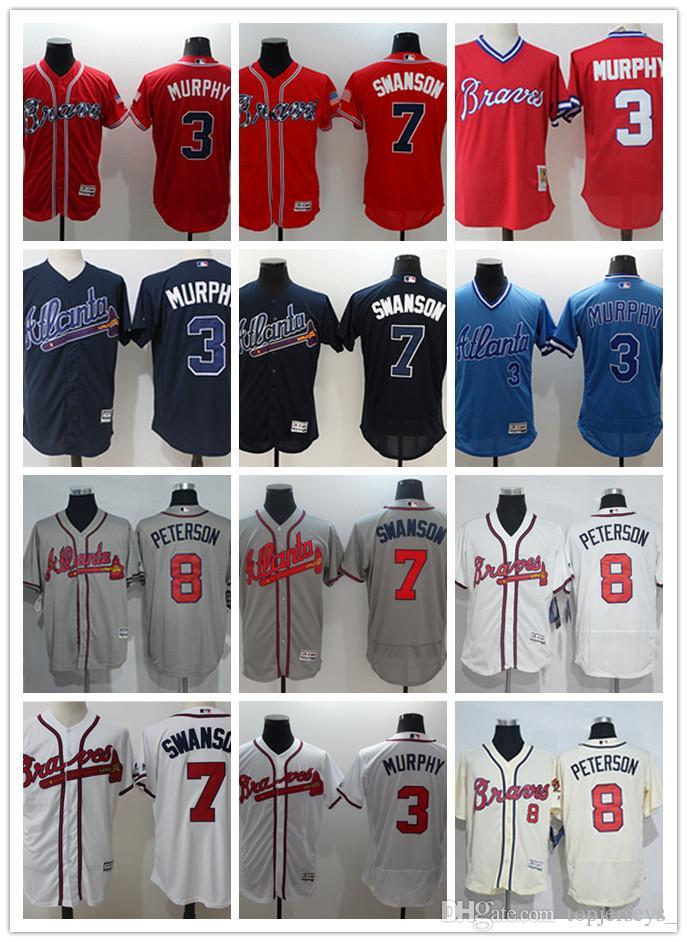e8d7746b3 Custom Men's Women Youth Majestic Braves Jersey #3 Dale Murphy 6 ...