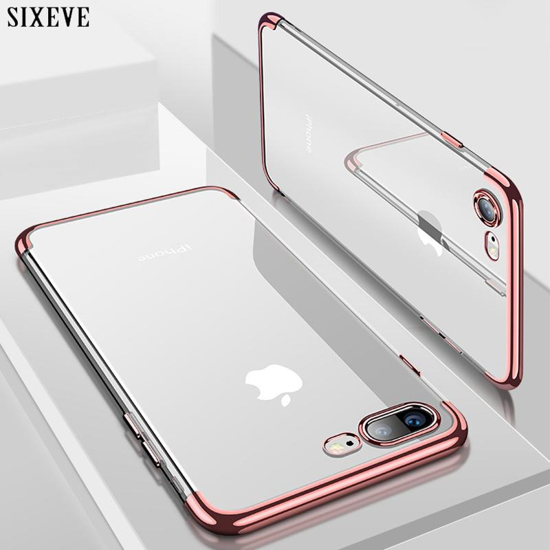 fd3fa55e1c8 Personalizar Fundas Funda Suave De Silicona Transparente Para IPhone X XS  Max XR IPhone 6S 6