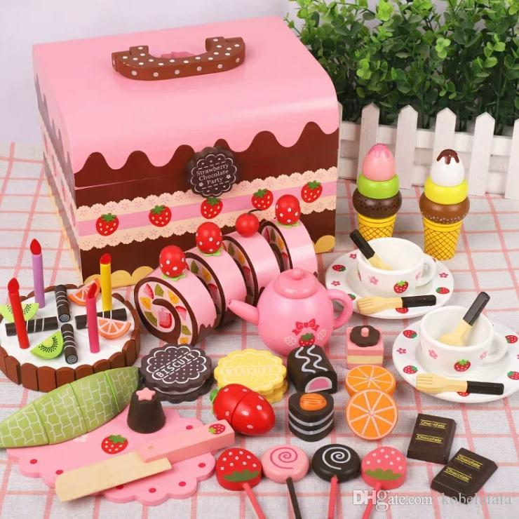 2019 Cake Toy Set Boy Girl Baby Child Cut Kitchen Cooking House Play