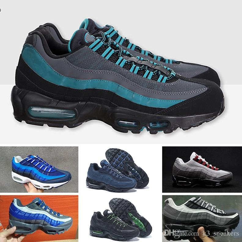 size 40 ecf5d 65bb4 Compre Nike Air Max 95 Mejor Envío De La Gota Zapatos Corrientes De Los  Hombres Al Por Mayor Del Amortiguador De Aire 95 OG Sneakers Bos Authentic  95s New ...