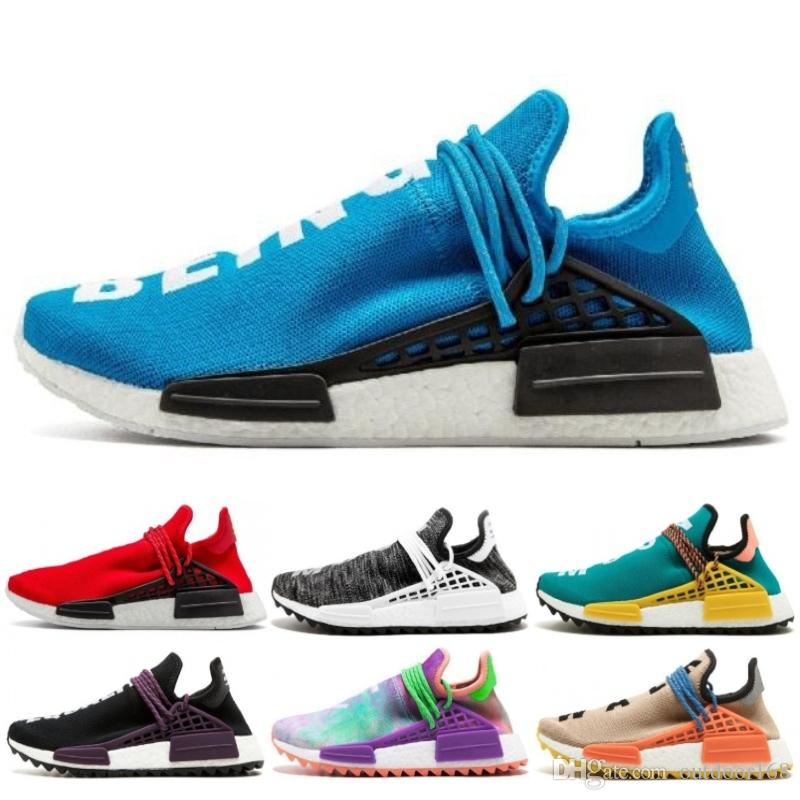 40ef921db6605 2019 Human Race X HU Equality Nobel Ink Pharell Williams Men Jogging Sports  Sneakers Best Quality Women Running Shoes Trainer Basketball Shoes Men Shoes  ...