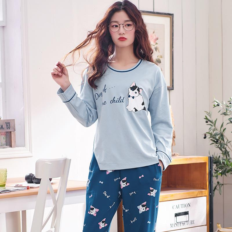 c4f76e79d5 2019 Spring Autumn New Pajamas Women Cartoon Printed Long Sleeve Cute  Pijamas Pyjama Femme Cartoon Printing Pajamas Sets For Women From  Instrumenthome