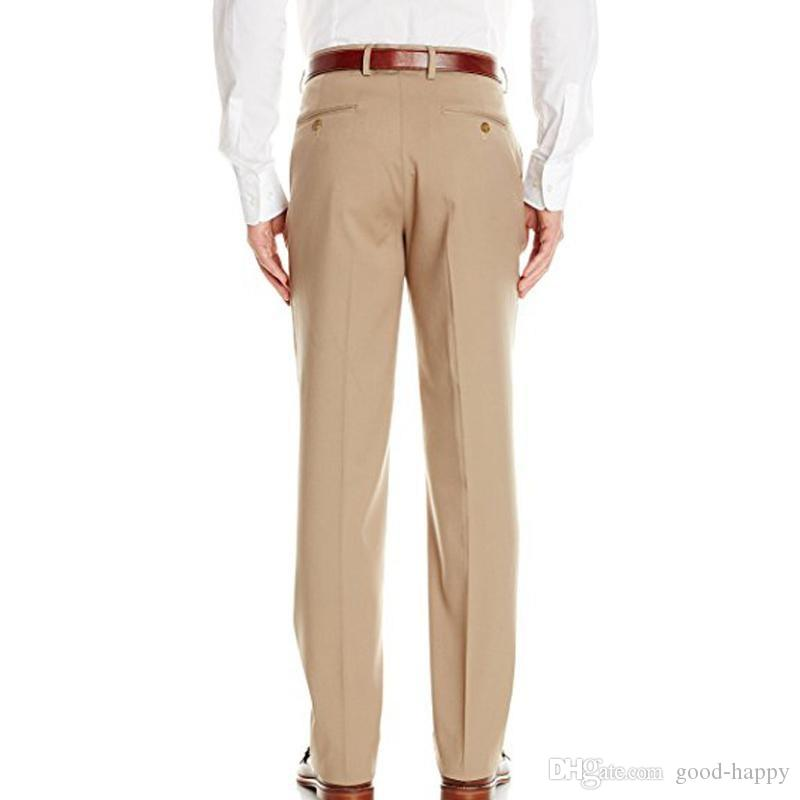 Khaki Bräutigam Smoking Revers Revers Vent Formelle Anzüge Business-Männer tragen Hochzeits-Prom-Dinner-Anzüge Jacket + Pants + Tie + Belt NO; 447