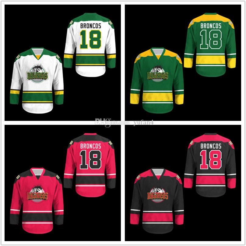 ccb169fa9 2019 Humboldt Broncos Retro White Black Green Blue Red Ice Hockey Jersey  Mens Stitched Custom Any Number And Name Jerseys From Yufan4