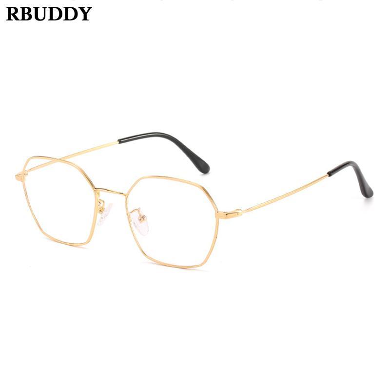 160058923ab5c Compre Mulheres De Metal Do Vintage Espelho Plano Transparente Óculos De Armação  Óculos Falsos Lentes De Leitura Computador Lente Óptica Óculos De Pickled