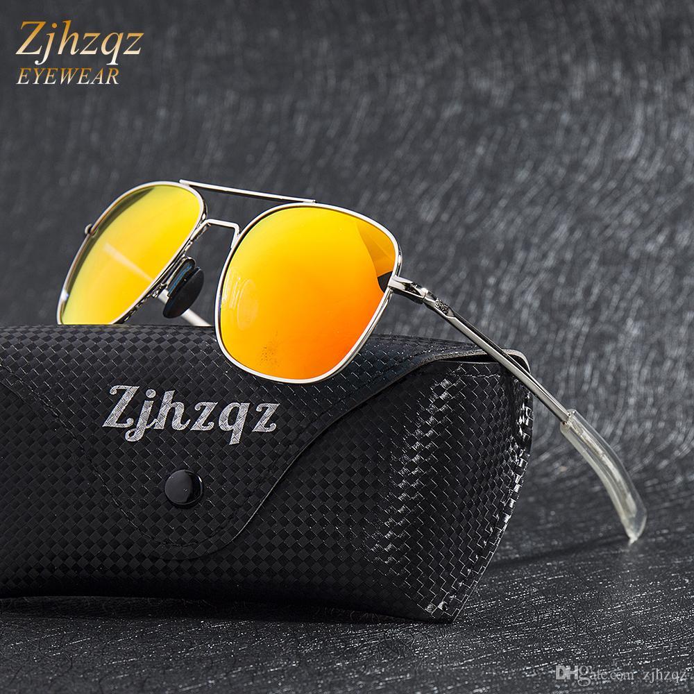 661ebd359 Brand Designer Polarized Sunglasses Womens Mens Pilot Military Driving Blue  Green Silver Red Mirrored Glasses Eyewear New Prescription Glasses Online  Round ...