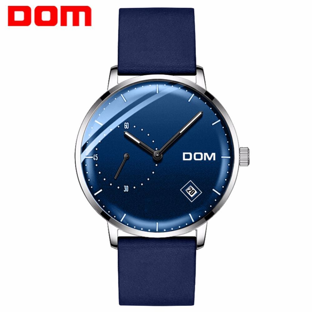 2019 Fashion Men Watch Business Mens Watch Mechanical Automatic Steel Ceramic Man Watch Dom Brand Wristwatches Waterproof Mens Clock Watches