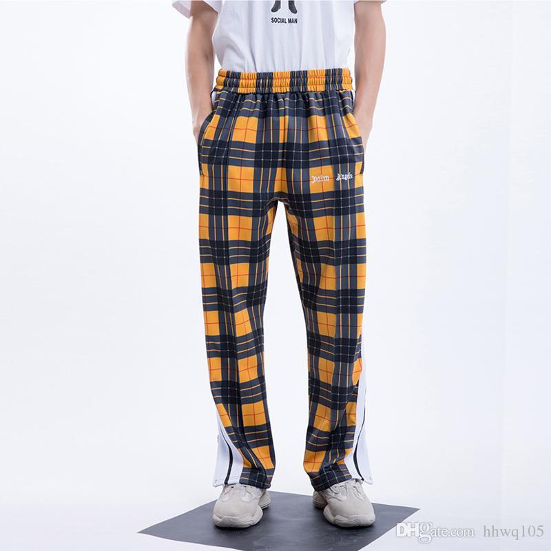 dcb956858a1 2019 New Arrival Men S Plaid Sweatpants Side Striped Zipper Bottom Casual  Jogger Pants Fashion Skateboard Pant Street Wear TXH1001 From Hhwq105