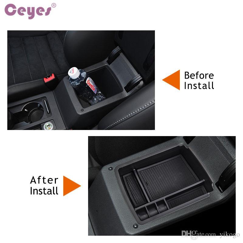 Almacenamiento central Pallet Caja de contenedores de reposabrazos para Volkswagen VW Golf 7 MK7 VII 2013 2014 Car Styling Accessories