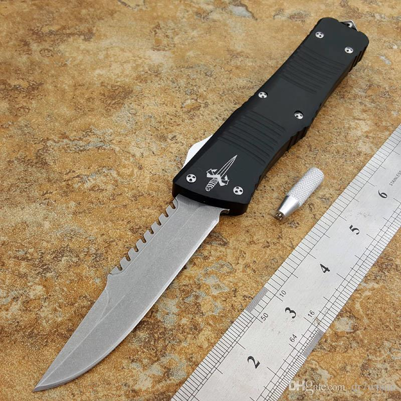 9 5 inch stone washing wholesale microtech knife sharp head black