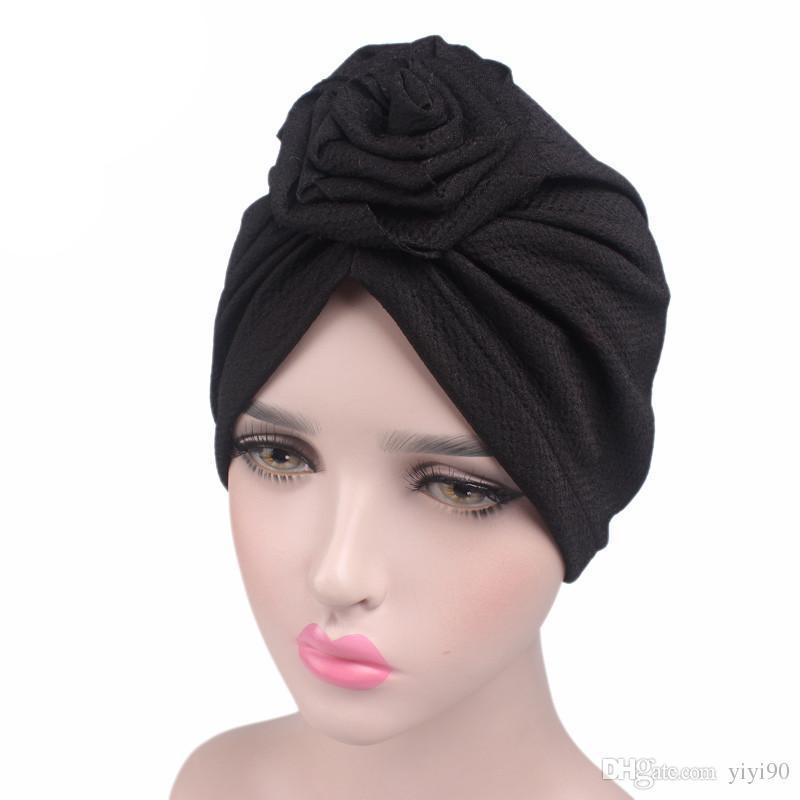 Compre Nuevo Sombrero De Quimica Strech Chemo Gorro De Camuflaje Para  Mujeres Con Flor De Rosa Musulmana Gorro De Cabeza Con Turbante Para  Pacientes Con ... 3cf04a7a89c2