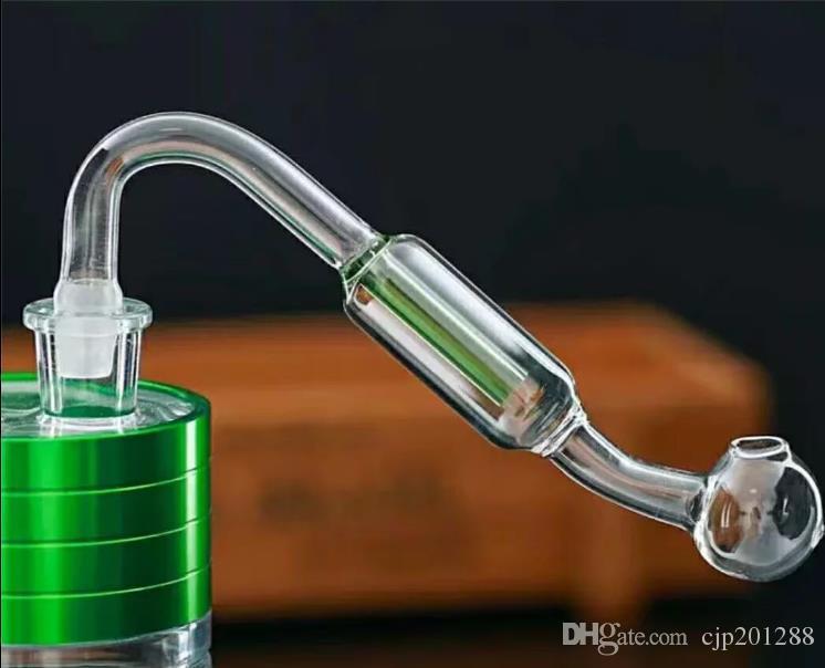 Nova placa de vidro duplo filtro Atacado bongs de vidro queimador de óleo tubulações de água de vidro plataformas petrolíferas para fumantes