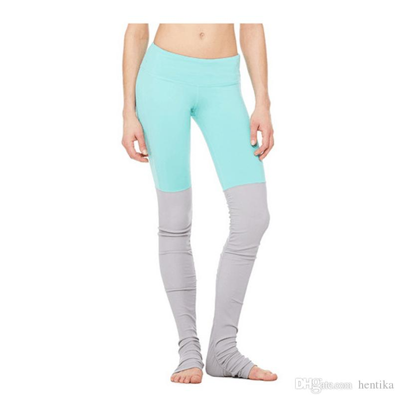 Leggings da palestra Running Training Compression Yoga Collant Pantaloni Splicing Allenamento Knit Activewear Pantaloni da donna all'aperto per le donne