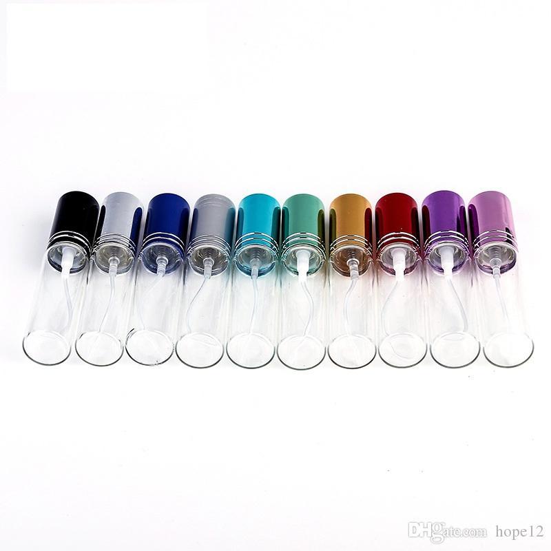 200pcs MINI 5ML / 10ml métal vide verre parfum bouteille rechargeable vaporisateur parfum atomiseurs bouteilles DHL / EMS / Fedex livraison gratuite
