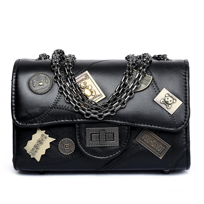 Fashion Small Shoulder Bag for Women Chain Messenger Bags Ladies Retro PU  Leather Handbag Purse with Badges Female Crossbody Bag Shoulder Bags Cheap  ... 41a335b717c01
