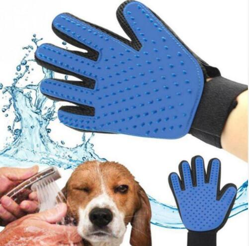New Silicone Animal Glove Pet Dog Deshedding Brush Bath Cleaning Massage Gloves Tools Dog Bath Gloves